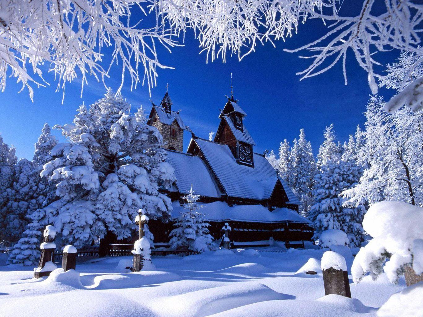 Kar Manzaralarıkış Resimlerikış Mevsimi Resimlerikış Manzarası Resim